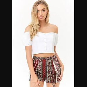 Red Tribal Shorts